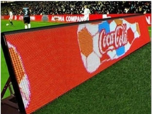 Stadium Perimeter P10 Outdoor Led Screen , Advertising Led Display Screen Easy Setup